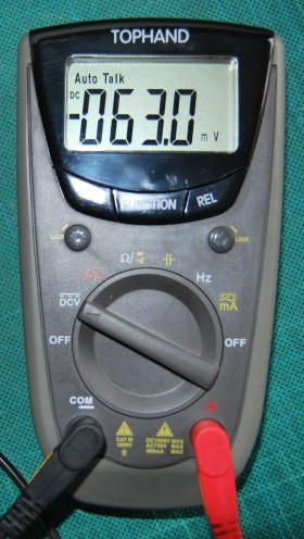 Photo of talking multimeter ready for use