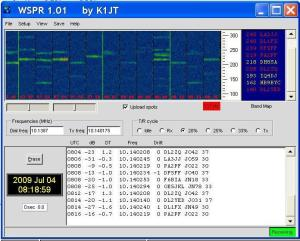 WSPR Screenshot