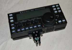 Photo of KX3 with key fitted