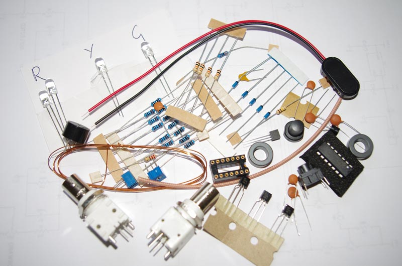 Photo showing the many components
